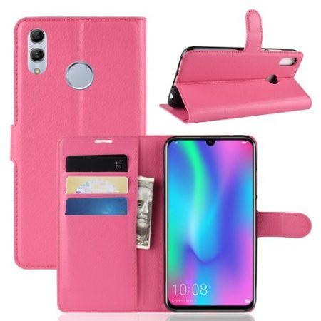 Huawei Honor 10 Lite Notesz Tok Business Series Kitámasztható Bankkártyatartóval Pink
