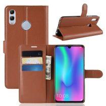 Huawei Honor 10 Lite Notesz Tok Business Series Kitámasztható Bankkártyatartóval Barna