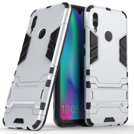 Huawei Honor 10 Lite 2in1 Tok Ütésálló - Kitámasztható TPU Hybrid Ezüst
