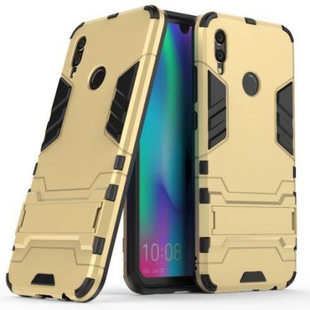 Huawei Honor 10 Lite 2in1 Tok Ütésálló - Kitámasztható TPU Hybrid Arany