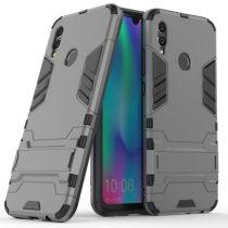 Huawei Honor 10 Lite 2in1 Tok Ütésálló - Kitámasztható TPU Hybrid Szürke
