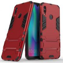 Huawei Honor 10 Lite 2in1 Tok Ütésálló - Kitámasztható TPU Hybrid Piros