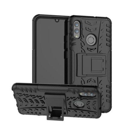 Huawei Honor 10 Lite Ütésálló Tok Kitámasztható 2in1 Hybrid Fekete