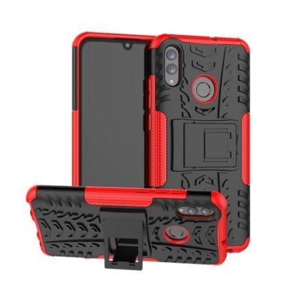 Huawei Honor 10 Lite Ütésálló Tok Kitámasztható 2in1 Hybrid Piros