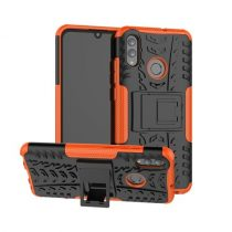Huawei Honor 10 Lite Ütésálló Tok Kitámasztható 2in1 Hybrid Narancssárga