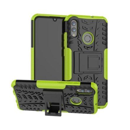 Huawei Honor 10 Lite Ütésálló Tok Kitámasztható 2in1 Hybrid Zöld