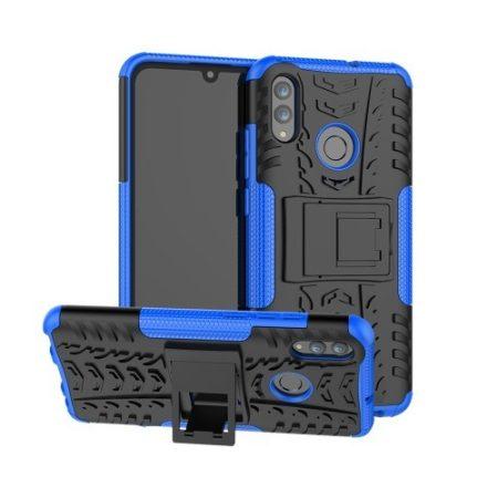 Huawei Honor 10 Lite Ütésálló Tok Kitámasztható 2in1 Hybrid Kék
