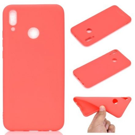 Huawei Honor 10 Lite Tok Szilikon Soft Matte Series Piros