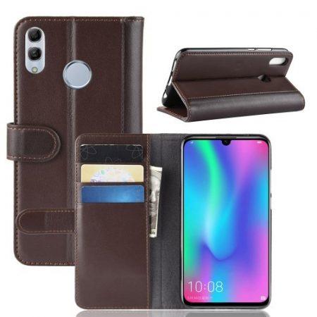 Huawei P Smart 2019 Bőrtok Notesz Kártyatartóval Kitámasztható Barna