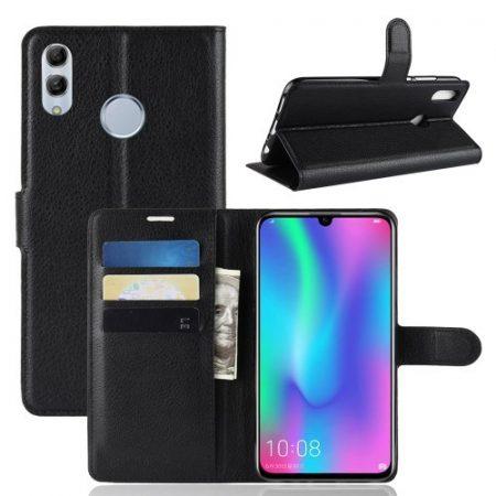 Huawei P Smart 2019 Notesz Tok Business Series Kitámasztható Bankkártyatartóval Fekete