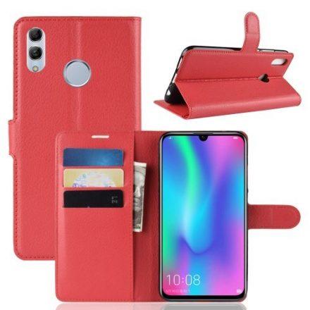 Huawei P Smart 2019 Notesz Tok Business Series Kitámasztható Bankkártyatartóval Piros