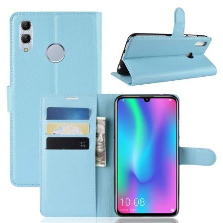 Huawei P Smart 2019 Notesz Tok Business Series Kitámasztható Bankkártyatartóval Világoskék