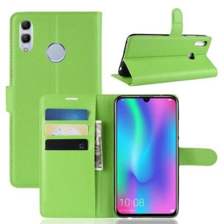 Huawei P Smart 2019 Notesz Tok Business Series Kitámasztható Bankkártyatartóval Zöld