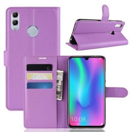 Huawei P Smart 2019 Notesz Tok Business Series Kitámasztható Bankkártyatartóval Lila