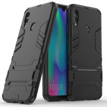 Huawei P Smart 2019 2in1 Tok Ütésálló - Kitámasztható TPU Hybrid Fekete