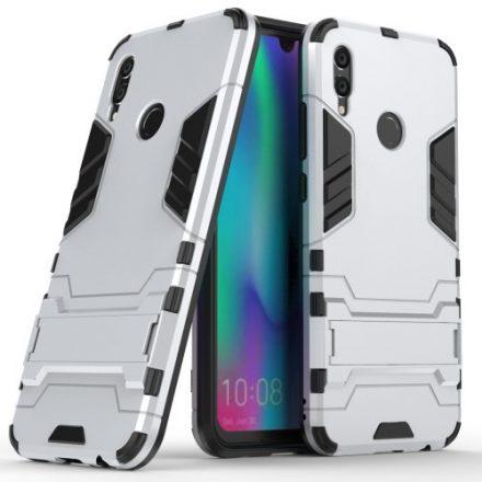Huawei P Smart 2019 2in1 Tok Ütésálló - Kitámasztható TPU Hybrid Ezüst