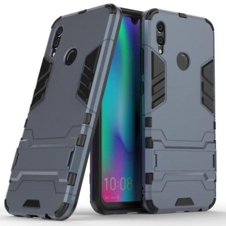 Huawei P Smart 2019 2in1 Tok Ütésálló - Kitámasztható TPU Hybrid Sötétkék