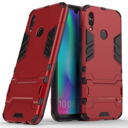 Huawei P Smart 2019 2in1 Tok Ütésálló - Kitámasztható TPU Hybrid Piros