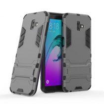 Samsung Galaxy J6+ / J6 Plus 2in1 Tok Ütésálló - Kitámasztható TPU Hybrid Szürke