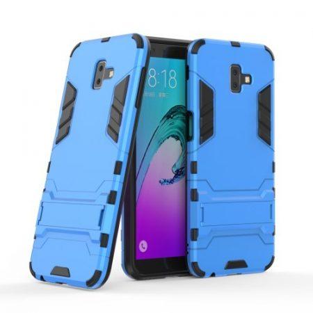 Samsung Galaxy J6+ / J6 Plus 2in1 Tok Ütésálló - Kitámasztható TPU Hybrid Világoskék