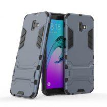Samsung Galaxy J6+ / J6 Plus 2in1 Tok Ütésálló - Kitámasztható TPU Hybrid Sötétkék