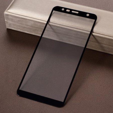 Samsung Galaxy J6+ / J6 Plus Tempered Glass - Kijelzővédő Üveg FULL 3D Fekete