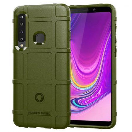 Samsung Galaxy A9 (2018) Ütésálló Anti-Shock Tok Series Rugged Shield -RMPACK- KatonaZöld