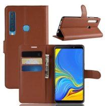Samsung Galaxy A9 (2018) Notesz Tok Business Series Kitámasztható Bankkártyatartóval Barna