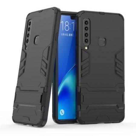 Samsung Galaxy A9 (2018) 2in1 Tok Ütésálló - Kitámasztható TPU Hybrid Fekete