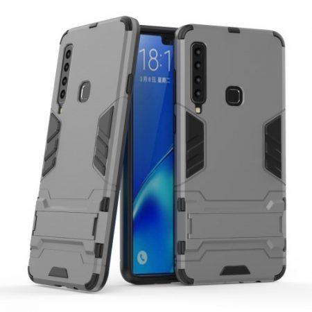 Samsung Galaxy A9 (2018) 2in1 Tok Ütésálló - Kitámasztható TPU Hybrid Szürke