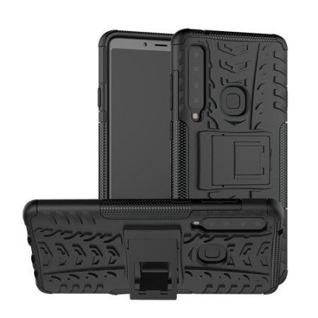 Samsung Galaxy A9 (2018) Ütésálló Tok Kitámasztható 2in1 Hybrid Fekete