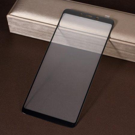 Samsung Galaxy A9 (2018) Tempered Glass - Kijelzővédő Üveg FULL 3D Fekete