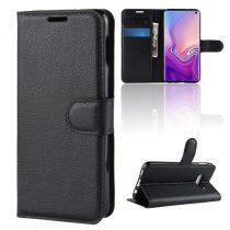 Samsung Galaxy S10e Notesz Tok Business Series Kitámasztható Bankkártyatartóval Fekete