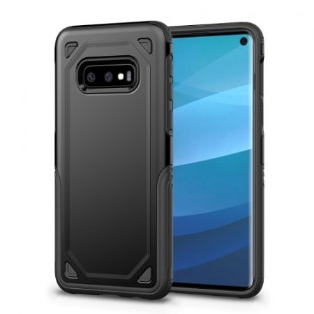 Samsung Galaxy S10e Tok Ütésálló Armor Rugged Series 2in1 Csúszásgátlóval Fekete