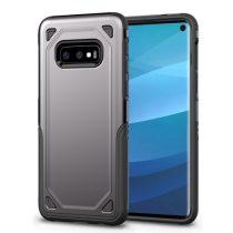 Samsung Galaxy S10e Tok Ütésálló Armor Rugged Series 2in1 Csúszásgátlóval Szürke