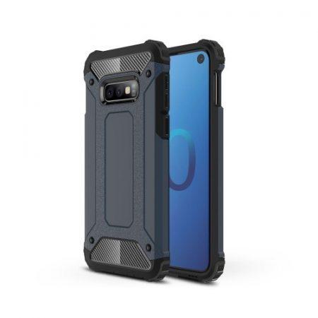 Samsung Galaxy S10e Ütésálló Armor Tok Guard Series 2in1 Sötétkék
