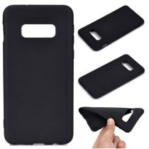 Samsung Galaxy S10e Tok Szilikon Soft Matte Series Fekete