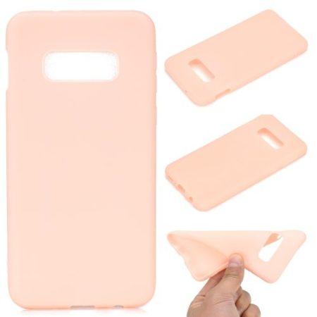 Samsung Galaxy S10e Tok Szilikon Soft Matte Series Rózsaszín