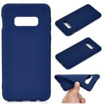 Samsung Galaxy S10e Tok Szilikon Soft Matte Series Sötétkék