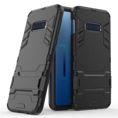 Samsung Galaxy S10e 2in1 Tok Ütésálló - Kitámasztható TPU Hybrid Fekete