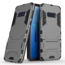 Samsung Galaxy S10e 2in1 Tok Ütésálló - Kitámasztható TPU Hybrid Szürke