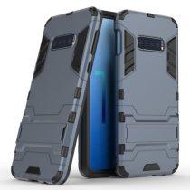 Samsung Galaxy S10e 2in1 Tok Ütésálló - Kitámasztható TPU Hybrid Sötétkék
