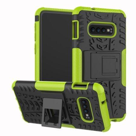 Samsung Galaxy S10e Ütésálló Tok Kitámasztható 2in1 Hybrid Zöld