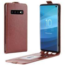 Samsung Galaxy S10 Flip Tok Mágneses Barna
