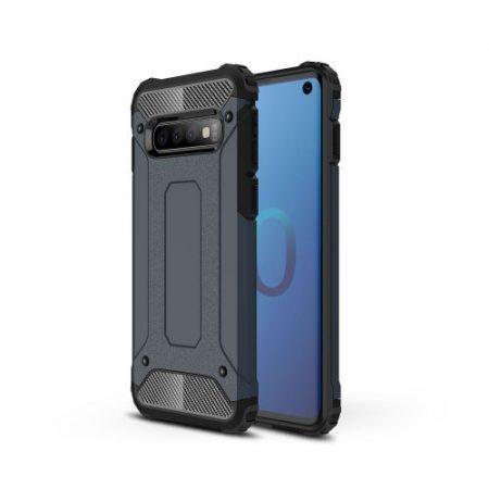 Samsung Galaxy S10 Ütésálló Armor Tok Guard Series 2in1 Sötétkék