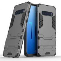 Samsung Galaxy S10 2in1 Tok Ütésálló - Kitámasztható TPU Hybrid Szürke