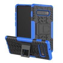 Samsung Galaxy S10 Ütésálló Tok Kitámasztható 2in1 Hybrid Kék