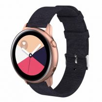 Samsung Galaxy Watch Active Óraszíj - Pótszíj Textil Canvas Fekete