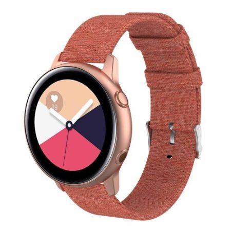Samsung Galaxy Watch Active Óraszíj - Pótszíj Textil Canvas Narancssárga