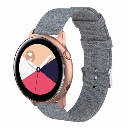 Samsung Galaxy Watch Active Óraszíj - Pótszíj Textil Canvas SötétSzürke